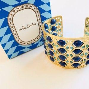 NIB stella & dot ~ beaded abacus cuff
